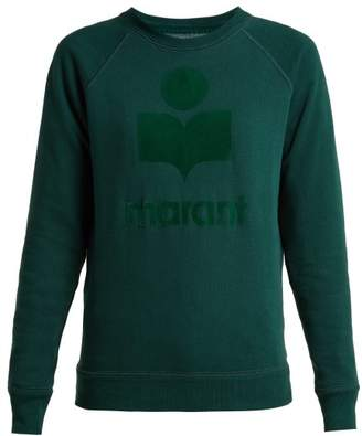 Etoile Isabel Marant Milly Logo Cotton Blend Sweatshirt - Womens - Dark Green
