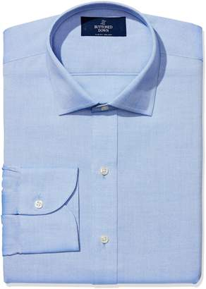Buttoned Down Men's Non-Iron Slim Fit Spread Collar Dress Shirt