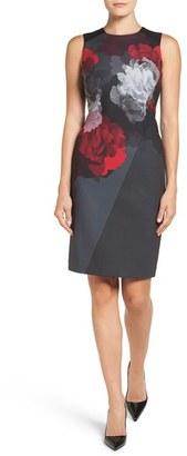 Women's Ellen Tracy Floral Front Sheath Dress $149.50 thestylecure.com