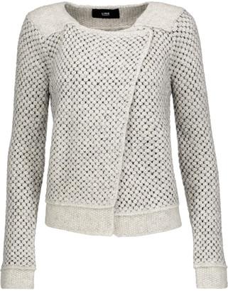 Line Stephanie asymmetric bouclé jacket $245 thestylecure.com