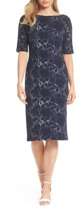 Maggy London Jacquard Pencil Dress