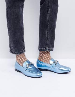 New Look Metallic T Bar Loafer