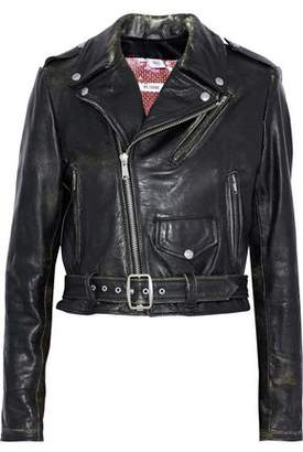 Levi's Re/Done By Distressed Leather Biker Jacket