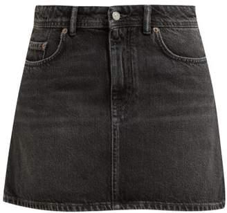 Acne Studios Caitlyn Denim Mini Skirt - Womens - Black