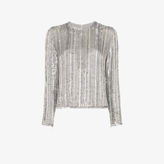 Ashish Long sleeve sequin top