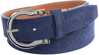 Stacy Adams Richmond 34MM Suede Belt with Perforated Design