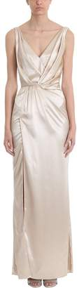 Azzaro Bonte Beige Silk Long Dress