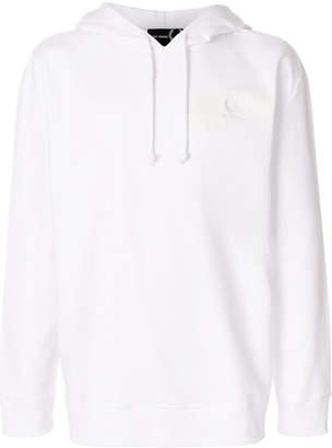 Fred Perry Logo Print Cotton Hooded Sweatshirt