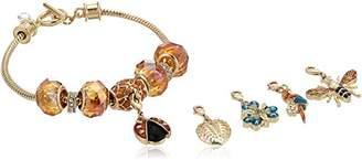 Napier Womens Gold Changeable Charm Bracelet
