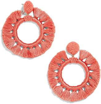 BaubleBar Beaded Tassel Hoop Earrings
