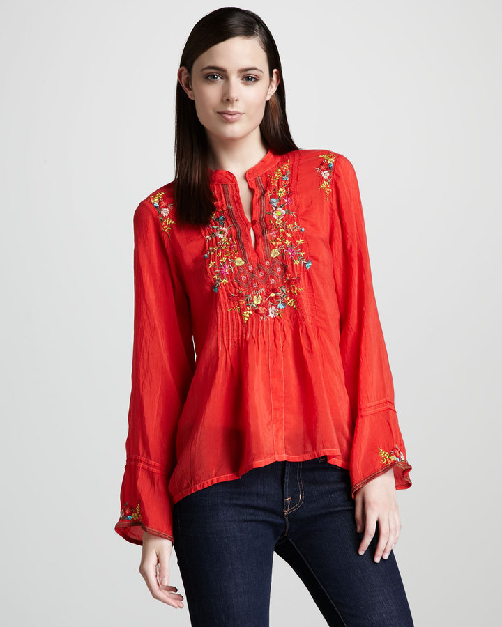 Johnny Was Collection Tali Embroidered Tunic