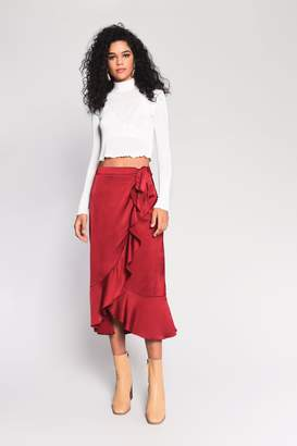 Glamorous Womens **Satin Wrap Skirt By Raspberry
