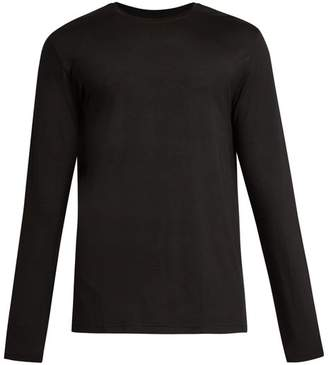 Derek Rose Basel Jersey Long Sleeved T Shirt - Mens - Black