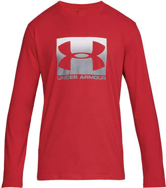 Under Armour Men's Charged Cotton Long-Sleeve Logo T-Shirt