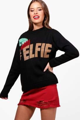 boohoo Petite Elfie Christmas jumper