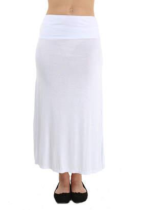 24/7 Comfort Apparel Solid Maxi Skirt