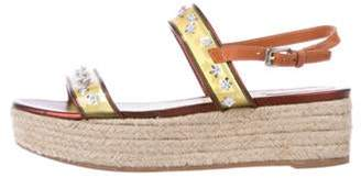 Christian Dior Joy Wedge Sandals Yellow Joy Wedge Sandals