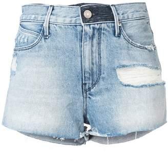 RtA Ace high-waisted denim shorts