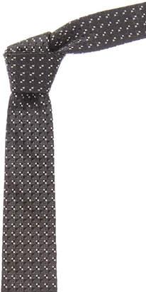 Givenchy Black Geometric Silk Tie