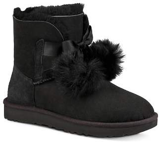 UGG Women's Gita Sheepskin & Fur Pom-Pom Booties
