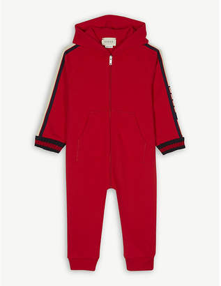 Gucci Logo tape cotton all-in-one 0-18 months