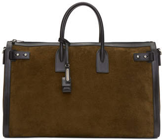 Saint Laurent Brown Sac de Jour Duffle Bag