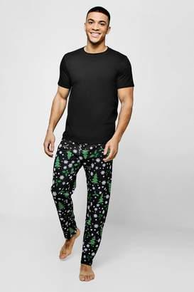 boohoo Christmas Tree Print Pyjama Set