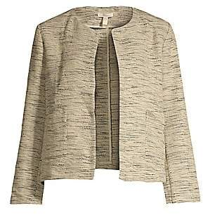 Eileen Fisher Women's Cotton Roundneck Cropped Jacket