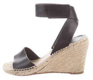 Celine Leather Espadrille Sandals