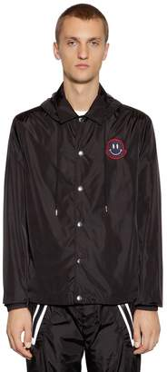 Moncler Lance Hooded Nylon Lightweight Jacket