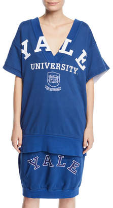 Calvin Klein Yale University V-Neck Short-Sleeve Cotton Terry Top