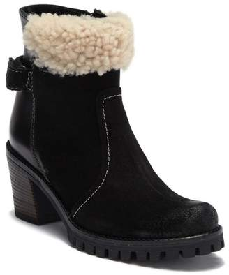 Manas Design FUR Block Heel Ankle Boot