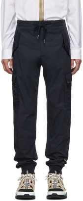 Burberry Navy Patch Pocket Trousers