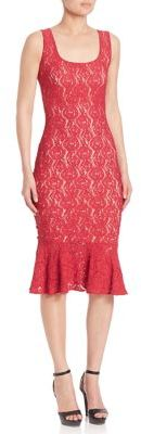 Fuzzi Rose Lace Trumpet Dress $430 thestylecure.com