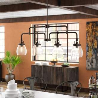 Trent Austin Design Panorama Point Heirloom Bronze 4-Light Kitchen Island Pendant