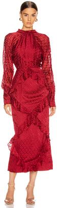 Saloni Alek Dress in Wine | FWRD