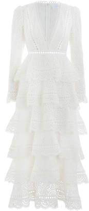 Zimmermann Bayou Tiered Swirl Long Dress