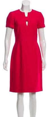 J. Mendel Short Sleeve Knee-Length Dress w/ Tags Pink Short Sleeve Knee-Length Dress w/ Tags