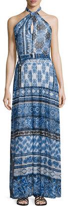 Fuzzi Halter Scarf-Print Maxi Dress $725 thestylecure.com