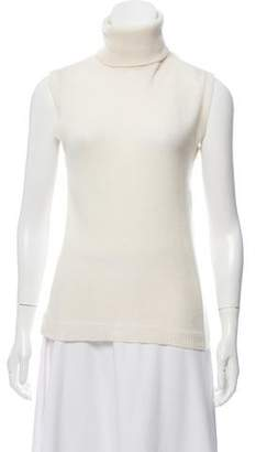 Nina Ricci Lace-Accented Sleeveless Top