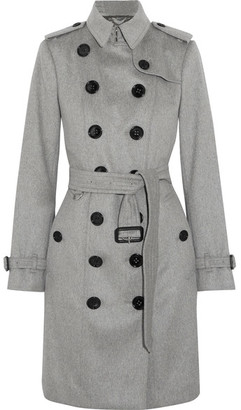 Burberry - The Sandringham Cashmere Trench Coat - Gray $2,595 thestylecure.com