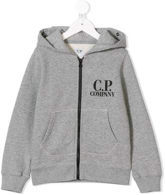 C.P. Company Kids logo print hoodie