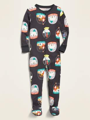 Old Navy Christmas Snow Globe-Print Footie Pajama One-Piece for Toddler & Baby