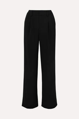 Vince Satin-crepe Wide-leg Pants - Black