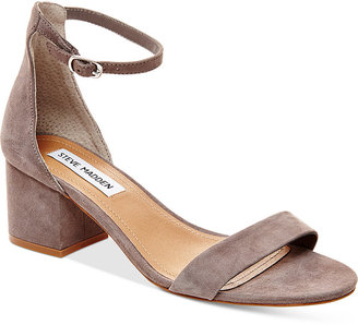 Steve Madden Women's Irenee Two-Piece Block-Heel Sandals $79 thestylecure.com