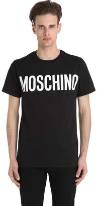 Moschino Logo Printed Cotton Jersey T-Shirt