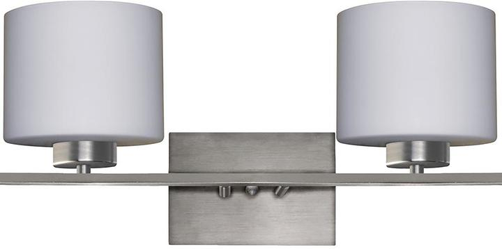 Cambridge Silversmiths Cambridge 2-Light Satin Steel Bath Light