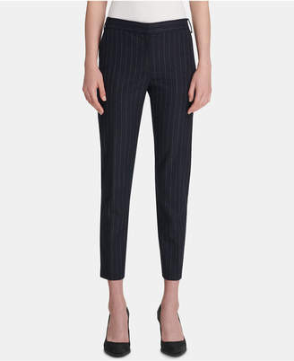 DKNY Pinstriped Skinny Ankle Pants
