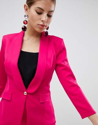 Club L Tailored Blazer In Scuba