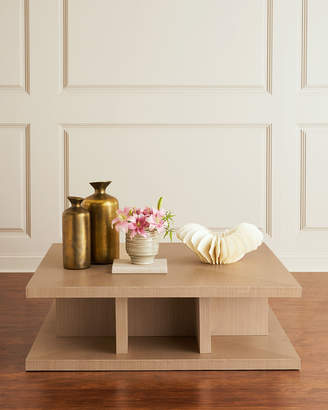 Interlude Home Marcie Sisal Square Coffee Table